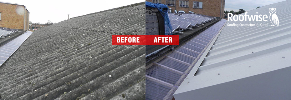 Asbestos roof replacemnet with cladding project completed