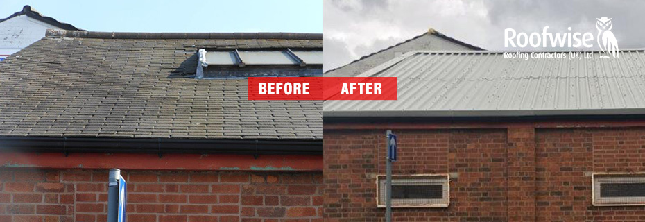 rereoofing - replacement of old roofs