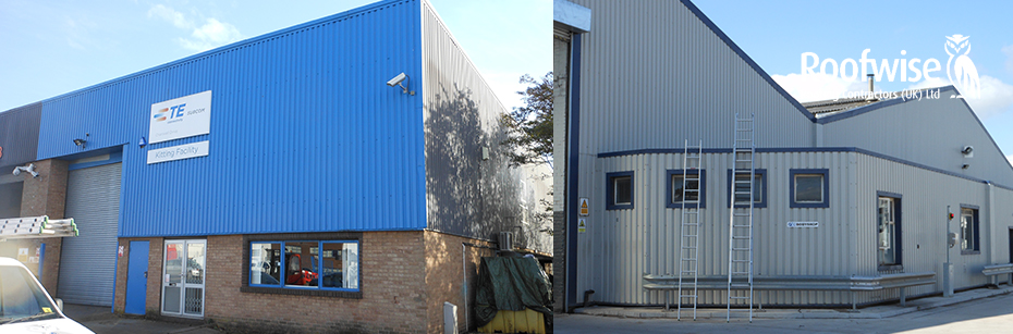 Wall profiled cladding buildings in Leicester