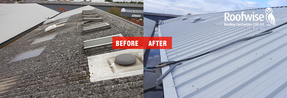 Asbestos roof removal and install new cladding