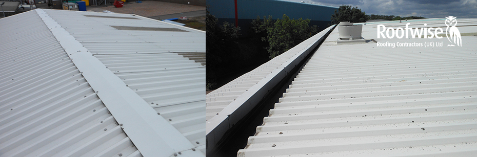 Profiled steel roof cladding and sheeting leicester