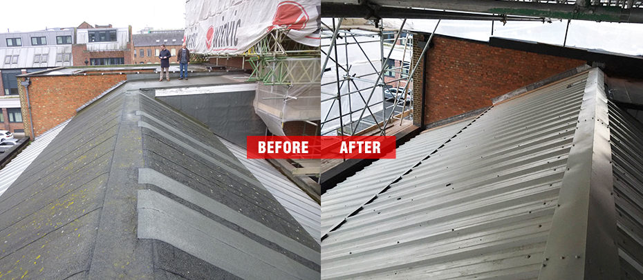 Roof Metal Profiled Sheeting install in Leicester