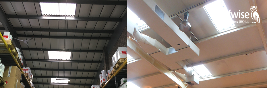 Warehouse Rooflight installation